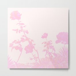 Pastel Pink Roses on the Beach Metal Print