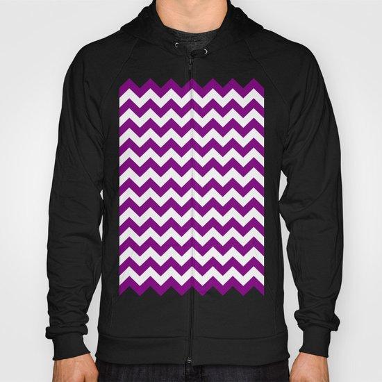 Chevron (Purple/White) Hoody
