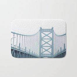 The Ben Franklin Bridge Bath Mat