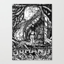 Jumanji (Black and White version) Canvas Print