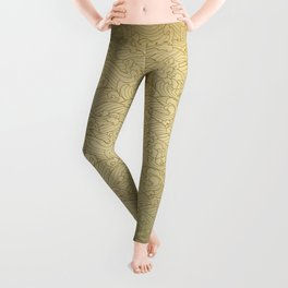 Golden Waves in Golden Leggings