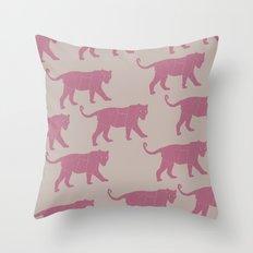 Pink Tigers Throw Pillow