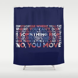 Civil War Quote Shower Curtain