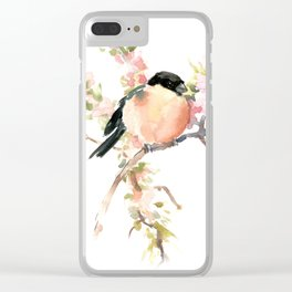 Bullfinch and Spring Clear iPhone Case