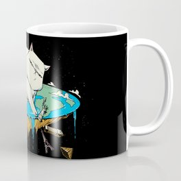 Flat Earth Cat Coffee Mug