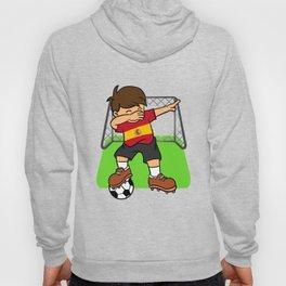 Spain Soccer Ball Dabbing Kid Spaniard Football Goal Hoody