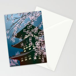 Night at the Pagoda Stationery Cards