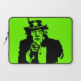 Neon Green Uncle Trump Needs You Laptop Sleeve