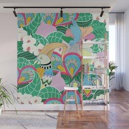 Paradise Birds Wall Mural