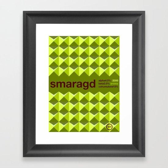 smaragd single hop Framed Art Print