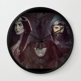 "bat man vs superman ""Samarkand""  Wall Clock"