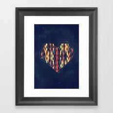 Interstellar Heart Framed Art Print