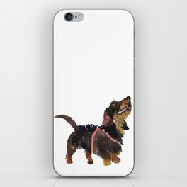 watercolor dog vol 9 dachshund iPhone Skin