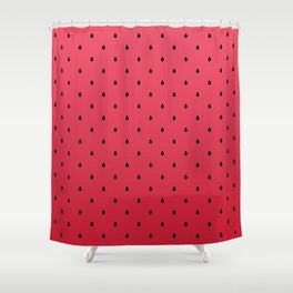 Watermelon Minimal Pattern Shower Curtain