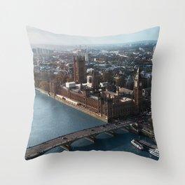 LONDON CITY BIG BEN VII Throw Pillow