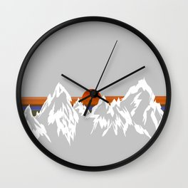 Sunset in the Appalachian Mountains Wall Clock