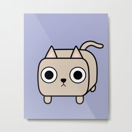 Cat Loaf - Cream Kitty Metal Print