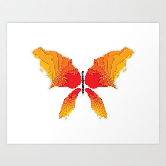 Butterfly - Fire Art Print