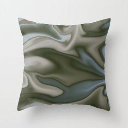Silky Black Abstract Throw Pillow
