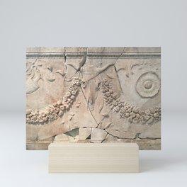 Ancient stone facade Mini Art Print