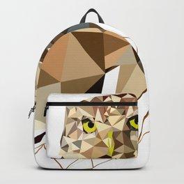 Geometric owl art Bird artwork Woodland birds Backpack