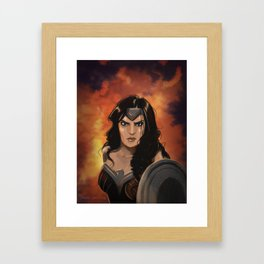 Night in the Flames Framed Art Print