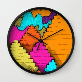 Peaks of the forest Wall Clock