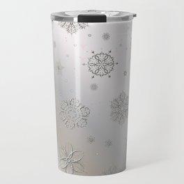 Snow and Silver Travel Mug