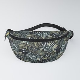 Hidden Creatures - Grey / Khaki Fanny Pack