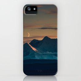 Sunset over the Alaska Range, Delta Junction iPhone Case