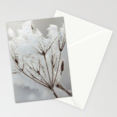 Winter macro Stationery Cards