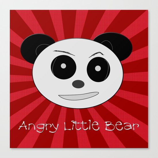 Angry Little Bear 1 Canvas Print