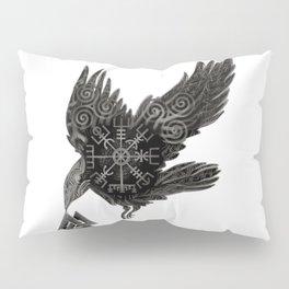 Norse Raven & Rune Pillow Sham
