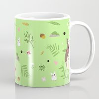 ghibli Mugs featuring Ghibli pattern by Sophie Eves