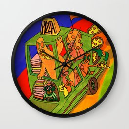 Pizza Delivery Wall Clock