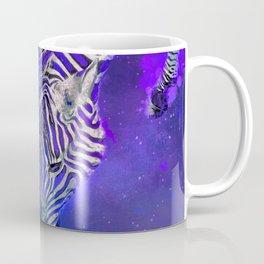 Night Sky Zebra Ultra Violet Coffee Mug