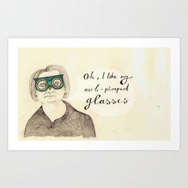 I Like My Owl-Pimped Glasses Art Print
