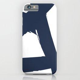 DEEP MATTE BLUE BRUSH iPhone Case