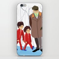 wes anderson iPhone & iPod Skins featuring let's shag ass (wes anderson) by Lindsay Pak