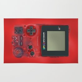 Classic retro transparent Dark red game watch iPhone 4 5 6 7 8, tshirt, mugs and pillow case Rug