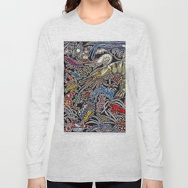Prawns, gambas and shrimps for ocean lovers, marine biologists and scuba divers Long Sleeve T-shirt