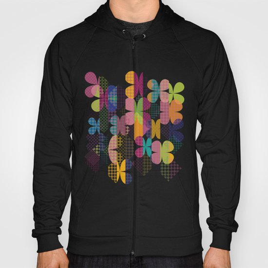 Abstract Colorful Floral Pattern Hoody