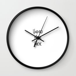 Unpaid Movie Critic Film School Humor Wall Clock