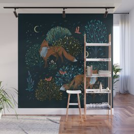 Forest Foxes Wall Mural