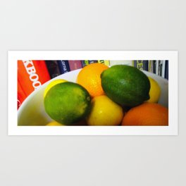 Lemon Lime Still Life Art Print