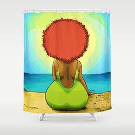 Chomba mirando al mar Shower Curtain