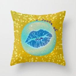 a taste of blue Throw Pillow