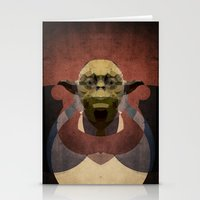 yoda Stationery Cards featuring Yoda by lazylaves