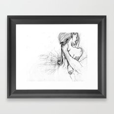 Tense  Framed Art Print