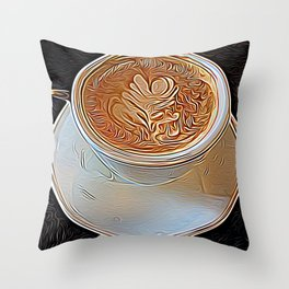 Not Your Ordinary Coffee Throw Pillow